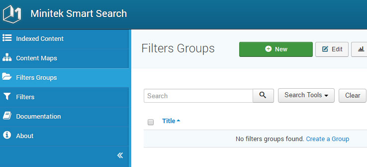 Creating filter groups